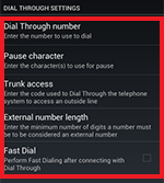 Dial Through settings